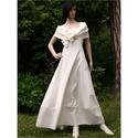GILDA - princesszruha L-XL, Ruha, divat, cipő, Esküvő, Menyasszonyi ruha, Esküvői ruha, Azonos nevű menyasszonyi ruhám lenvászonból készült, klöpli-csipkével díszített, rusztikus változata..., Meska