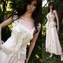 MILLENIUM - romantikus designruha - alternatív menyasszonyi ruha, Alternatív menyasszonyi ruhának is hordható ké...