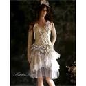 APOCALIPTIC-DOLLY - extravagáns alternatív menyasszonyi ruha,  Különleges stílusú ruhám azoknak a menyasszo...