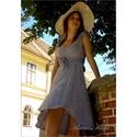 LEVENDULA-KISASSZONY, Esküvő, Ruha, divat, cipő, Női ruha, Ruha, Különleges, jó tartású, jacquard selyemből készítettem ezt a bájos kis ruhát.  Levendula színűre fes..., Meska