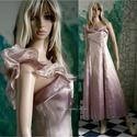 """THELMA - organza-ruha , Ruha, divat, cipő, Női ruha, Estélyi ruha, Újrahasznosított alapanyagból készült termékek, Varrás, Egy antik-rózsaszínű vintage organza-ruha továbbgondolásából született """"tündéri"""" modellem.  Mérete:..., Meska"""