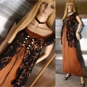 KIARA - exkluzív designruha muszlin-kabátkával, Ruha, divat, cipő, Esküvő, Női ruha, Estélyi ruha, Különleges, szecessziós-stílusú selyem + muszlin öltözetem a haute-couture szerelmeseinek ajánlom.  ..., Meska