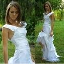 TÍMEA - szexi menyasszonyi ruha  , Esküvő, Táska, Divat & Szépség, Menyasszonyi ruha, Esküvői ruha, Ruha, divat, Szexi, modern, romantikus alternatív menyasszonyi ruha bohém, tüllös uszállyal, mély hát-kivágással...., Meska