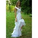TÍMEA - menyasszonyi ruha  , Esküvő, Ruha, divat, cipő, Menyasszonyi ruha, Esküvői ruha, Szexi, modern, romantikus alternatív menyasszonyi ruha bohém, tüllös uszállyal, mély hát-kivágással...., Meska
