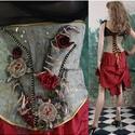 ROKOKÓ derékfűző - artsy fashion design, Ruha, divat, cipő, Női ruha, Estélyi ruha, Blúz, Egy igazi haute-couture csemege a különleges ruhák szerelmeseinek:  Vintage fémszálas selymet festet..., Meska