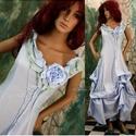 VALERIE - estélyi vagy menyasszonyi ruha, Esküvő, Ruha, divat, cipő, Menyasszonyi ruha, Női ruha, Különleges megjelenésű modellemet pasztell-kék, selymes felületű, taftosan habosítható pamutvászonbó..., Meska