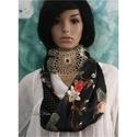 ÉKSZER-SÁL / infinity scarf , Vintage elegancia a selyem luxus-érintésével:  ...