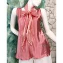 MARLENE - selyemtop sállal, Lágy krepp-szatén-selyemből készítettem ezt a...