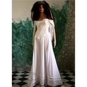 TEREZIA - menyasszonyi ruha, Esküvő, Ruha, divat, cipő, Menyasszonyi ruha, Esküvői ruha, Romantikus elegancia: Jó-tartású, tört-fehér gyöngyvászonból tervezett modellem a természetes anyago..., Meska