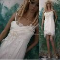 LUCINDA  menyasszony, Esküvő, Ruha, divat, cipő, Menyasszonyi ruha, Esküvői ruha, Luxus-érintésű lágy hernyóselyem-muszlin, finom tüll-csipke borítású ez a kényelmes, elasztikus pamu..., Meska