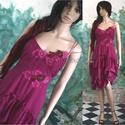 PÜNKÖSDI-RÓZSA , Esküvő, Ruha, divat, cipő, Női ruha, Ruha, Különleges, finom gyöngyös-díszítésű, hernyóselyemből készült püspöklila alkalmi modellem.  Menyecsk..., Meska