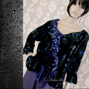 YVETTE - design-tunika XXL, Ruha, divat, cipő, Női ruha, Kismamaruha, Blúz, A francia-elegancia jegyében: Rózsamintás selyembársonyból készült fodros aljú, japán ujjú, romantik..., Meska