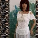 """SISSY - design csipketop, Ruha, divat, cipő, Esküvő, Női ruha, Blúz, Egy különleges darab a finom elegancia jegyében! Romantikus """"nimfa""""-felsőm most tört-fehér, exkluzív..., Meska"""