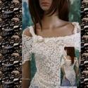 """LILLY - design csipketop, Ruha, divat, cipő, Esküvő, Női ruha, Blúz, Egy különleges darab a finom elegancia jegyében! Romantikus """"nimfa""""-felsőm most tört-fehér, exkluzív..., Meska"""