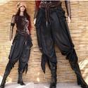 SATENE - exkluzív design-nadrág, Ruha, divat, cipő, Női ruha, Nadrág, Izgalmas, csomózott aljú szárong-nadrágom szárnyasan szabott, zsebes változatban. Különleges, gyűrt ..., Meska