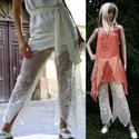 CSIPKENACI, Esküvő, Ruha, divat, cipő, Női ruha, Nadrág, Egy különleges kreációm a romantikus lagenlook öltözetekhez.  Méretei:  csípőbőség max. 104 cm hossz..., Meska