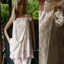 KÖDRÓZSÁK - selyemruha, Esküvő, Ruha, divat, cipő, Női ruha, Ruha, Hűvös, matt viszkózselyemből terveztem ezt a csini tunikaruhát.  Mély karöltős, állítható, befűzött ..., Meska