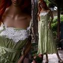 """DANIELLA - selyemruha , Esküvő, Ruha, divat, cipő, Menyasszonyi ruha, Női ruha, Akár alternatív menyasszonyi ruha is lehet ez a gyűrt selyemből készült """"nimfa""""ruhám. Dekoltázsát an..., Meska"""