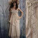 AUGUSZTA - nimfa-ruha  - art to wear lolita-ruha, Ruha, divat, cipő, Képzőművészet, Esküvői ruha, Textil, Romantikus, könnyű kétrészes öltözet válogatott bézses anyagokból, nyári alkalmakra, esküvőkre, vagy..., Meska