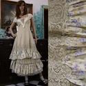 ARIKA- designruha XL - alternatív esküvői ruha, Ruha, divat, cipő, Női ruha, Estélyi ruha, Esküvői ruha, Ez a gyönyörű kétrészes modellem ekrü színű, szaténselyemből készített ruha alapra varrt kézzel fest..., Meska