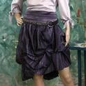 LOLI - szoknya, Ruha, divat, cipő, Női ruha, Szoknya, Különleges, batikolt-pliszés taftból terveztem ezt a felcsípésekkel formázott alkalmi szoknyát.  Mér..., Meska