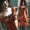 RÉZVIRÁG - design-ruha , Ruha, divat, cipő, Női ruha, Estélyi ruha, Szoknya, Különleges kétrészes estélyi-ruhám azoknak a hölgyeknek ajánlom, akik szeretik a modern-romantikus m..., Meska