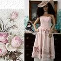 JULIETTE - esküvői design öltözet, Esküvő, Ruha, divat, cipő, Menyasszonyi ruha, Esküvői ruha, Háromrészes romantikus lenvászon ruha. Csipkés míder + applikált szoknya + boleró Tiszta lenvászonbó..., Meska
