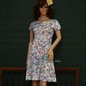 JERSEYRUHA - tavaszmintás M, Esküvő, Ruha, divat, cipő, Női ruha, Ruha, Egyszerűen elegáns, japán-ujjú, béleletlen, könnyű jersey-ruha, amit a '70-es évekből származó origi..., Meska