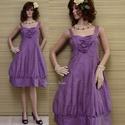 LILA TULIPÁN - design-ruha XL, Ruha, divat, cipő, Női ruha, Estélyi ruha, Ruha, Különleges, orgona-lila hernyóselyem- shantungból terveztem ezt a modellemet. Klasszikus princessz-s..., Meska
