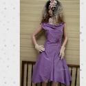LILA ORGONA - design-ruha , Ruha, divat, cipő, Női ruha, Estélyi ruha, Ruha, Különleges, orgona-lila hernyóselyem- shantungból terveztem ezt a modellemet. Klasszikus princessz-s..., Meska