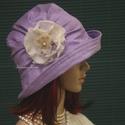 ERNA - design flapper-kalap, Ruha, divat, cipő, Kendő, sál, sapka, kesztyű, Sapka, Női ruha, Különleges alkalmakra ajánlom ezt az 1920-as évek stílusában tervezett, rakott-tetejű darabom. Orgon..., Meska