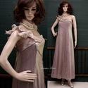 """THELMA - organza-ruha , Ruha, divat, cipő, Női ruha, Estélyi ruha, Egy antik-rózsaszínű vintage organza-ruha továbbgondolásából született """"tündéri"""" modellem.  Mérete: ..., Meska"""