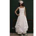 LETÍCIA - menyasszonyi ruha, Esküvő, Ruha, divat, cipő, Menyasszonyi ruha, Esküvői ruha, Ez a hófehér pamut-szaténból készült princesszruha minden testalkatra előnyös. Szép szögletes kivágá..., Meska