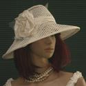 NECCKALAP - extravagáns esküvői kalap, Esküvő, Ruha, divat, cipő, Menyasszonyi ruha, Esküvői ruha, Hófehér neccből készítettem ezt a különleges kalapocskát. Pille-könnyű, béleletlen, szép formáját a ..., Meska