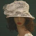 DOMINIKA - esküvői csipkekalap, Esküvő, Ruha, divat, cipő, Menyasszonyi ruha, Esküvői ruha, Hófehér csipkéből és organzából készítettem ezt a bájos kalapocskát. Pille-könnyű, béleletlen, szép ..., Meska