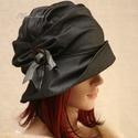 ERNA / szürke selyem - design flapper-kalap, Különleges alkalmakra ajánlom ezt az 1920-as é...