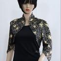 ARANYVIRÁGOS - báli boleró, Ruha, divat, cipő, Női ruha, Estélyi ruha, Egy egyszerű fekete ruha különleges dísze lehet ez a boleró, amit aranyvirágos jersey-ből készítette..., Meska