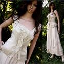 MILLENIUM - romantikus design-ruha, Táska, Divat & Szépség, Esküvő, Menyasszonyi ruha, Női ruha, Ruha, divat, Alternatív menyasszonyi ruhának is hordható kétrészes modellem rusztikus pamut-vászonból terveztem: ..., Meska