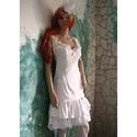 WHITE-ROSE - szexi menyasszonyi koktélruha , Esküvő, Táska, Divat & Szépség, Menyasszonyi ruha, Esküvői ruha, Ruha, divat, Fiatalos, extravagáns modellem alternatív menyasszonyoknak ajánlom: Részletgazdag díszítésű selyem k..., Meska