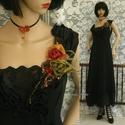 """DANILA -  selyemruha , Táska, Divat & Szépség, Női ruha, Ruha, divat, Estélyi ruha, Ruha, Csipke-végződésű, princessz-szabású kreációm a """"fenséges feketék"""" kategóriából:    Gyönyörű holló-fe..., Meska"""