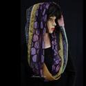 INFINITY/ india -  patchwork körsál, csősál , Keleties színtónusban válogatott finom textilek...