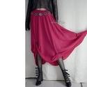 CHERI - exkluzív hernyóselyem design-szoknya, Táska, Divat & Szépség, Ruha, divat, Női ruha, Estélyi ruha, Szoknya, Luxus-minőségű, gyönyörű esésű, meggyszínű hernyóselyemből készült libbenős szoknya. Formáját a felc..., Meska
