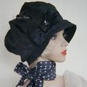 LOLI-SAPI - antik-brokát sapka, selyem kalap, Könnyű, kreatívan hordható nőies fejfedő ant...