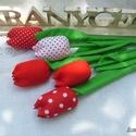 Egyedi tavaszi tulipán csokor, Dekoráció, Mindenmás, Otthon, lakberendezés, Csokor, Gondosan készített vidám tavaszi tulipánjaim piros-fehér   színvilágban készültek. Száruk masszív, n..., Meska