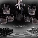 """""""Sakkozók Álma'-gravírozott whiskys készlet, Férfiaknak, Képzőművészet, Üvegművészet, Gravírozás, Ajándékot nemcsak kapni öröm, hanem adni is. De nem mindegy, hogy mit kapunk és mit adunk. Aki igén..., Meska"""