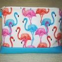 Flamingós óriási neszesszer vagy táskarendező, Táska, Neszesszer, Vidám mintával, de nagyon praktikus óriási neszesszert készítettem ami már akár táskarendezőként is ..., Meska