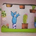 Kaktuszos óriás neszesszer vagy táskarendező, Vidám kaktuszos,pozsgás mintájú jó nagyméret...