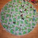 Autós játszó szőnyeg, Játék, Otthon, lakberendezés, Tárolóeszköz, Praktukus játszószőnyeg  ami autópálya  is és egyben a játékok tárolására is szolgál. Könnyen kiterí..., Meska