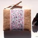 Pink virágos neszesszer/ borítéktáska/clutch (művelúr), Táska, Neszesszer, Laptoptáska, Varrás, A 15000 Ft feletti ingyen postázás nem vonatkozik minden termékre!!! Kérlek olvasd el ezzel kapcsol..., Meska