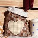 Konyhai tároló zsák/ kenyeres zsák (bézs-barna kockás) - Aranypántlika, Konyhafelszerelés, Otthon, lakberendezés, Kenyértartó, Tárolóeszköz, Varrás, A 15000 Ft feletti ingyen postázás nem vonatkozik minden termékre!!! Kérlek olvasd el ezzel kapcsol..., Meska